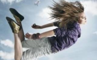 Сонник падение с высоты другого человека
