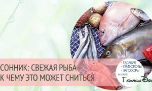 К чему снится свежая рыба мужчине сонник