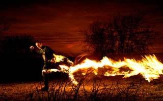 Во сне человек сгорел сонник