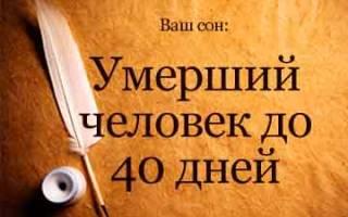 Если снится покойник живым до 40 дней сонник