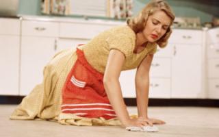 Сонник мыть полы в доме