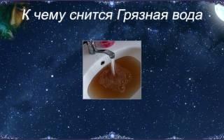 Грязная вода во сне что означает сонник