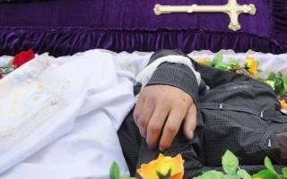 Видеть во сне умершего человека в гробу сонник