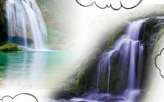 Сонник водопад видеть бурный прозрачный